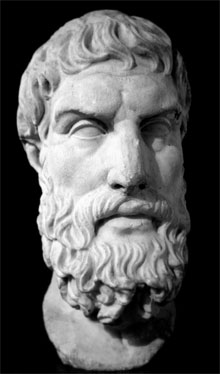 Marble bust of Epicurus