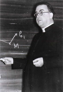 Lemaître at the Catholic University of L in Leuven, circa 1933.