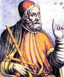 An early Baroque artist's rendition of Claudius Ptolemy